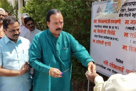 pratapnagar-devanagri-road-inaugration-ceremony-kishore-shitole-bjp-vice-president